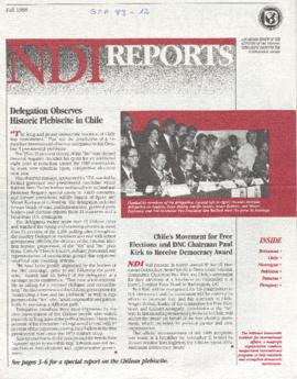 NDI Reports: Delegations Observes Historic Plebiscite in Chile.
