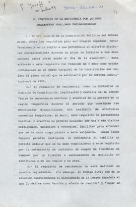 Requisitos de la Presidencia